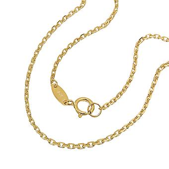 Chain 45 cm 1, 3 mm anchor chain 9Kt GOLD