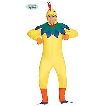 Kip haan kostuum volwassen dieren kostuum mens vogel boerderij