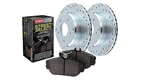 StopTech 928.67017 Select Sport Axle Pack (Drilled and Slotted Front), 2 Pack