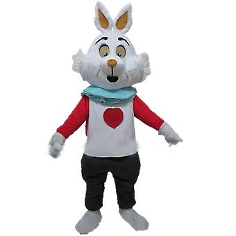 mascot SPOTSOUND of white rabbit of Alice in the Wonderland