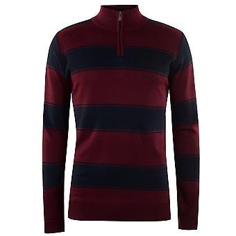 Pierre Cardin kwartale męskie Zip drutach sweter sweter sweter długi rękaw lejek
