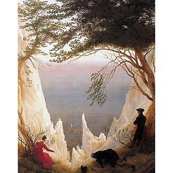 Chalk Cliffs on Rügen, Caspar David Friedrich, 50x40cm