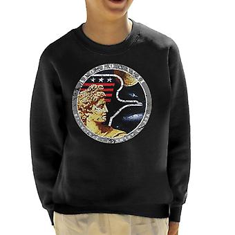 NASA Apollo 17 Mission Badge Distressed Kid's Sweatshirt