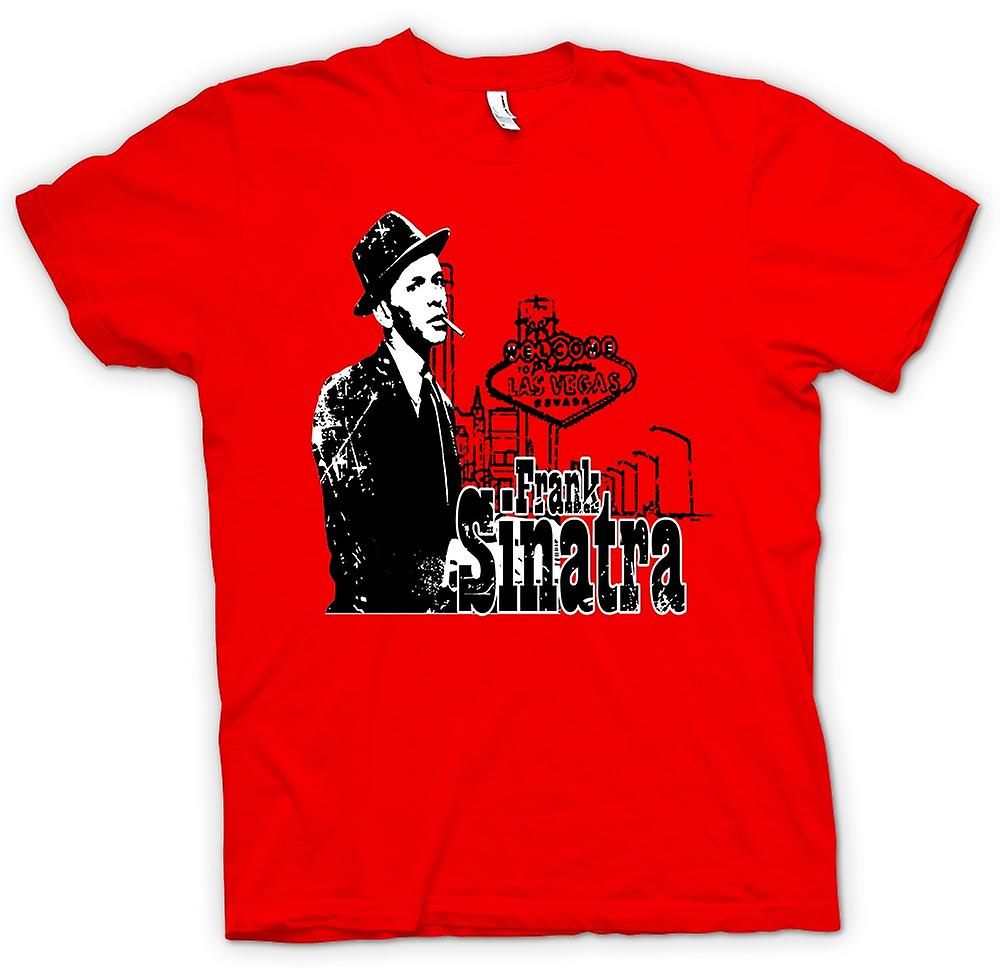 Herr T-shirt-Frank Sinatra Vegas - Swing - ikonen