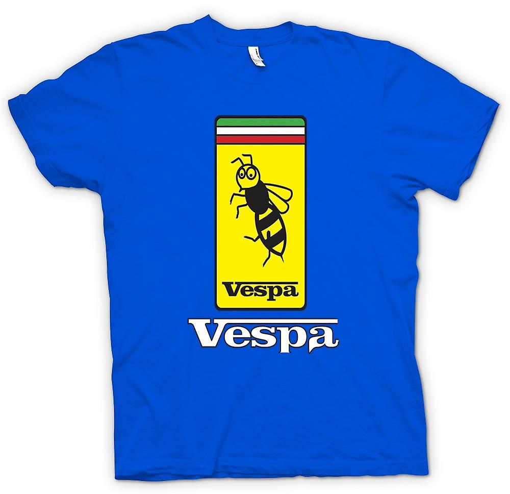 Mens T-shirt - Vespa Scooter Badge - Bee - Mod