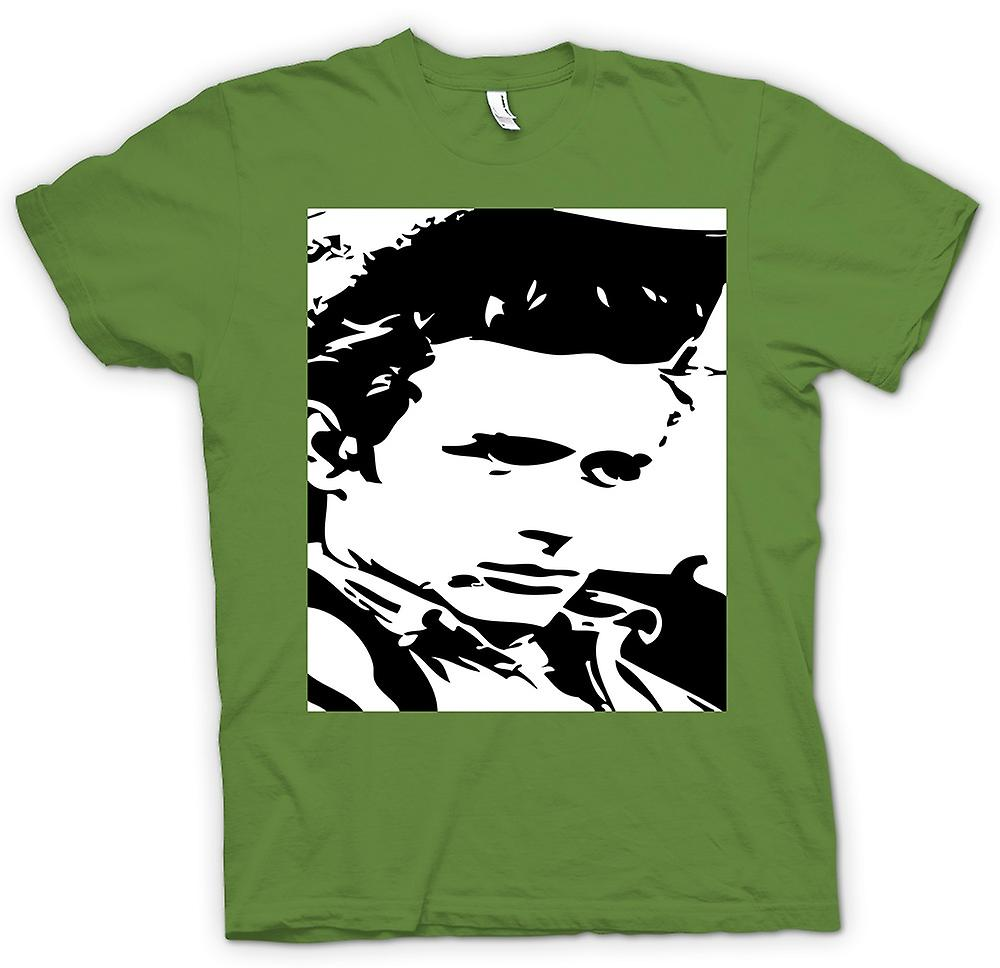 Mens T-shirt - James Dean Portrait - Icon - BW