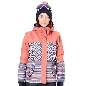 Roxy Dusty Cedar-Edit Song Geo Jetty Block Womens Snowboarding Jacket