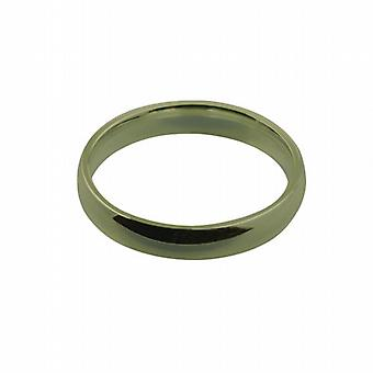 9ct Gold 4mm plain Court shaped Wedding Ring Size Q