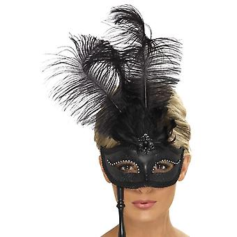 Womens barok Fantasy Eyemask Fancy Dress accessoire