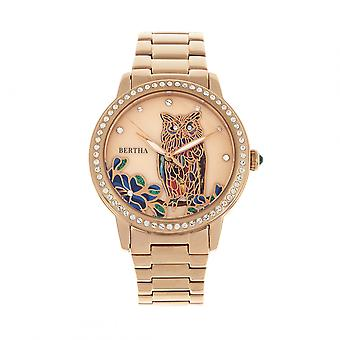 Bertha Madeline MOP armband horloge - Rose Gold