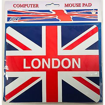 Unión bandera Londres Mouse Mat 220 x 180 mm (gg)