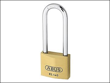 ABUS 85/40 40mm HB63 Brass Padlock 63mm Long Shackle Carded