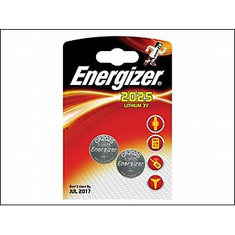 Energizer Cr2025 moneta batteria al litio di 2