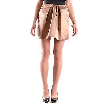 Dolce E Gabbana Gold Polyester Skirt