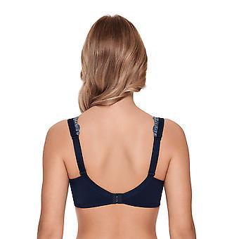 スーザ9850-329 女性のケアトワイライトブルーフローラルレース非有線乳房切除ソフトブラ