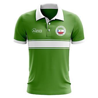 Ækvatorial Guinea Concept Stripe Polo skjorte (grøn)-børn