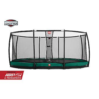 BERG Grand Champion InGround 520 Trampoline + Safety Net Deluxe Green
