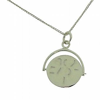 TOC Sterling Silver 'I Love You' Spinner Pendant Necklace 18