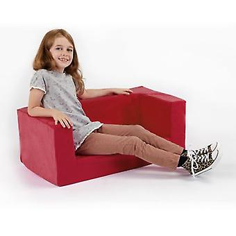 Children's Red Comfy Foam Mini Sofa