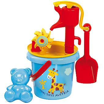 Gowi Toys Bucket and Pump Set Bath Sand Water Toys