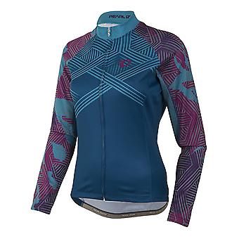 Pearl Izumi floreale Moroccan Blue Elite Thermal LTD Womens Long Sleeved ciclismo J