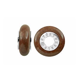 Storywheels Silver & Jasper Wheel Charm S377CIN