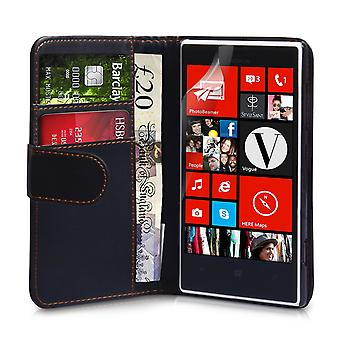 YouSave Accessories Nokia Lumia 720 Leather Effect Wallet Case Black