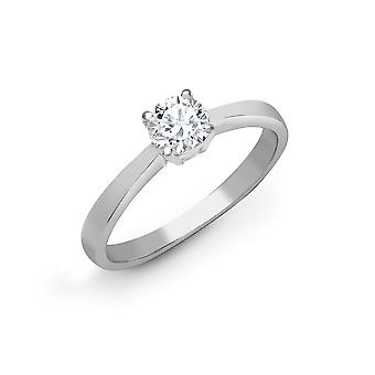 Jewelco London Solid 18ct White Gold 4 Claw Set Round G SI1 2ct Diamond Solitaire Engagement Ring