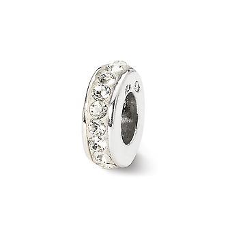925 hopeinen kiillotettu heijastukset huhtikuu yhden rivin Crystal helmi charmia