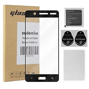 Cadorabo Vollbild Panzer Folie für Nokia 5 2017  - Gehärtetes (Tempered) Display-Schutzglas in 9H Härte mit 3D Touch Kompatibilität