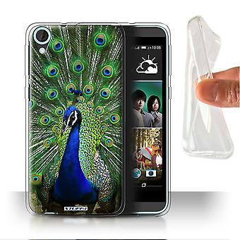 STUFF4 Gel/TPU Case/Cover for HTC Desire 820s Dual/Peacock/Wildlife Animals