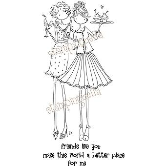 Stamping Bella Unmounted Rubber Stamp Uptown Girl Felicity And Blair Eb211