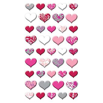 Puffy Dimensional Stickers Lovely Hearts Spp1pvc 10