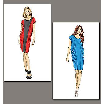 Misses' Dress  E5 14  16  18  20  22 Pattern V8763  E50