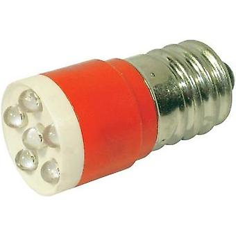 LED bulb E14 Red 24 Vdc, 24 Vac 1260 mcd CML