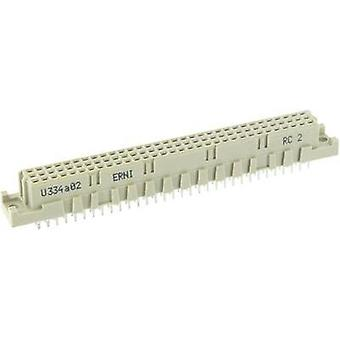 Edge connector (receptacle) 244301 Total number of pins 64 No. of rows 3