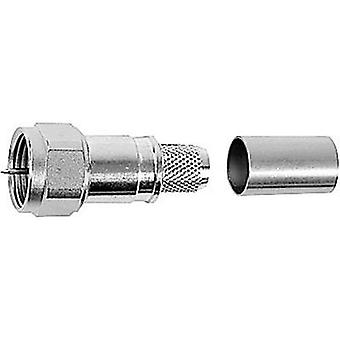 F connector Plug, straight 75 Ω Telegärtner J01600A0008 1 pc(s)