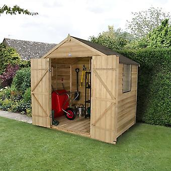 Forest Garden 7 x 5 Treated Double Door Overlap Apex Garden Shed