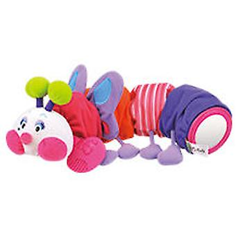 K's Kids Caterpillar With Teddy Teether - Pink