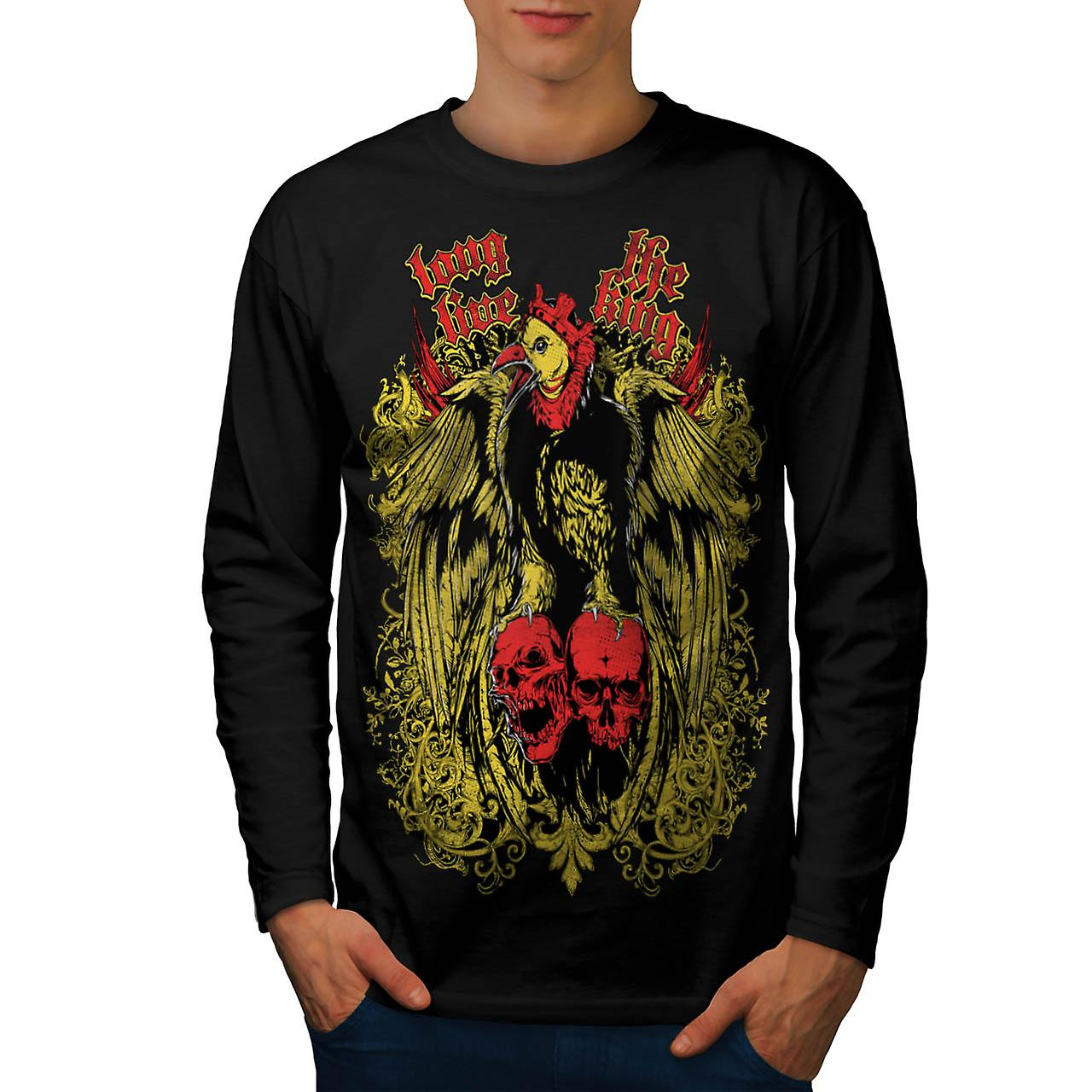 Long Live King Bird Giant Eagle Men Black Long Sleeve T-shirt | Wellcoda