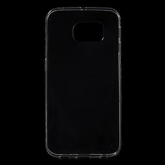 Ultra dunne TPU rubber cover voor de Samsung Galaxy S6 Edge (transparant)