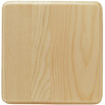 Pine Rounded Corner Square Plaque-6.75