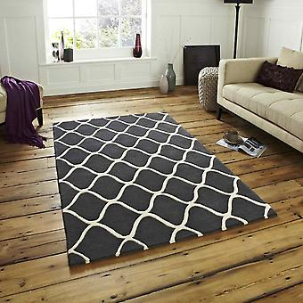 Elements Rugs El65 Hand Made Wool In Grey