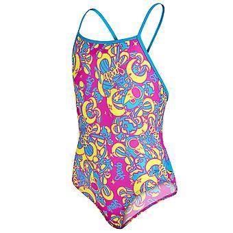 Speedo luxe essentiel enfant enfants filles Thinstrap une pièce maillot de bain rose