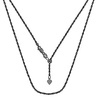 Sterling Silver Black Ruthenium Plated 22
