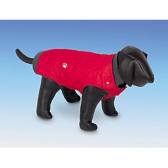 Nobby Nina Fleece Lined Dog Coat Red 48cm