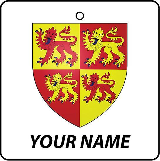 Personalised Wales Coat Of Arms Car Air Freshener