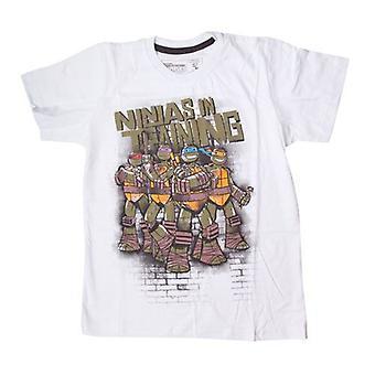 Teenage Mutant Ninja Turtles TMNT Kids ninjaer i uddannelse T-Shirt 164/170 hvid (TSY00058TNT164)