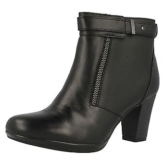 Ladies Clarks Casual Heeled Ankle Boots Kalea Gillian