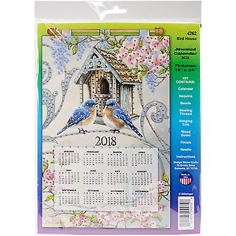 Design Works 2018 Calendar Felt Applique Kit-Birdhouse DW4262